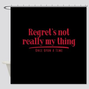 OUAT Regret's Not Really My Thing Shower Curtain