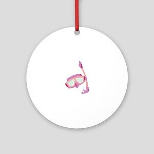 Snorkle Mask Ornament (Round)