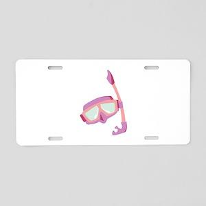 Snorkle Mask Aluminum License Plate