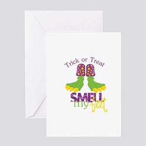 Trick or Treat Smell My Feet Greeting Card