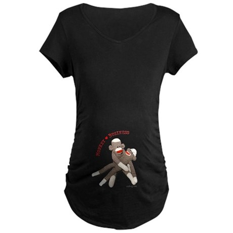 Monkey Business - Maternity Dark T-Shirt