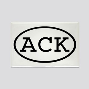 ACK Oval Rectangle Magnet