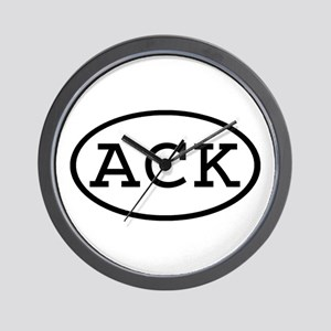 ACK Oval Wall Clock