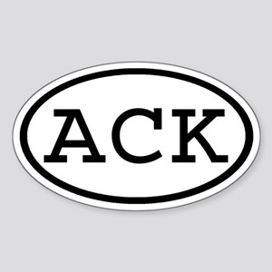 ACK Oval Oval Sticker