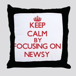 Keep Calm by focusing on Newsy Throw Pillow
