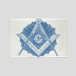 Masonic Design on a Rectangle Magnet