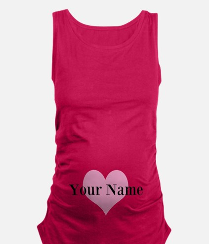 Cute Heart And Personalized Maternity Tank Top