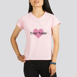 Pink heart and personalized name Performance Dry T