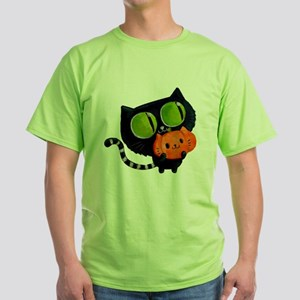 Cute Black Cat with pumpkin T-Shirt