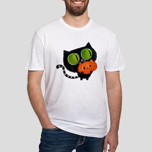 Cute Black Cat with pumpkin T-Shirt
