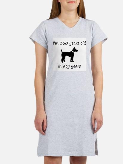 50 dog years black dog 1 Women's Nightshirt