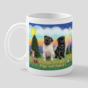 Pugs are Family (2) Mug