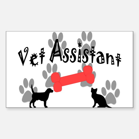 Veterinary Rectangle Decal 10 pk) Decal