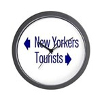 NY Tourists Wall Clock