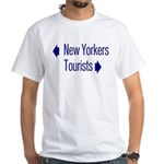 NY Tourists White T-Shirt