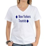 NY Tourists Women's V-Neck T-Shirt