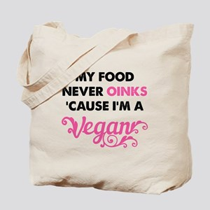 Food Never Oinks Tote Bag