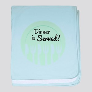 Dinner Is Served! baby blanket