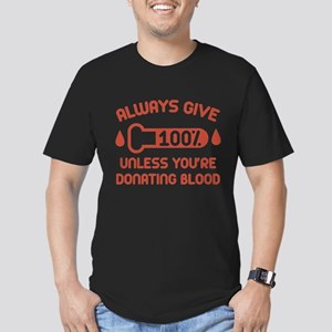 Always Give 100 Percent Men's Fitted T-Shirt (dark