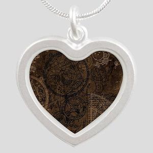 Clockwork Collage Brown Necklaces