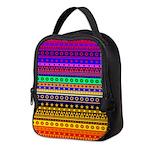 Rainbow Stripes Pattern Neoprene Lunch Bag