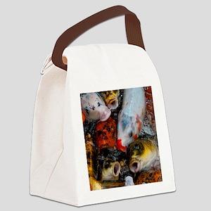 Curious Koi Canvas Lunch Bag