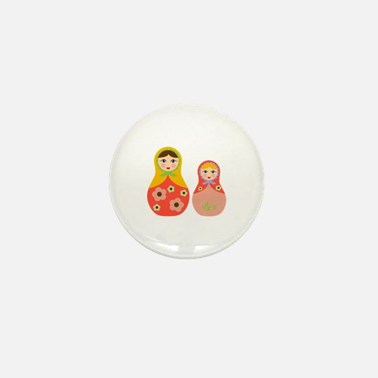 Nesting Dolls Mini Button