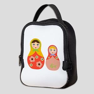 Nesting Dolls Neoprene Lunch Bag