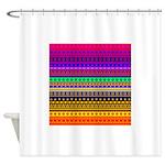 Rainbow Stripes Pattern Shower Curtain