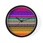 Rainbow Stripes Pattern Wall Clock