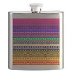 Rainbow Stripes Pattern Flask