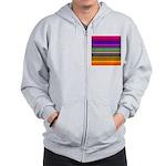 Rainbow Stripes Pattern Zip Hoodie
