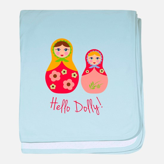 Hello Dolly! baby blanket