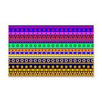 Rainbow Stripes Pattern Wall Decal