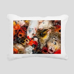 Hungry Koi Rectangular Canvas Pillow