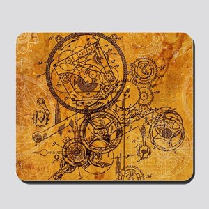 Clockwork Collage Mousepad