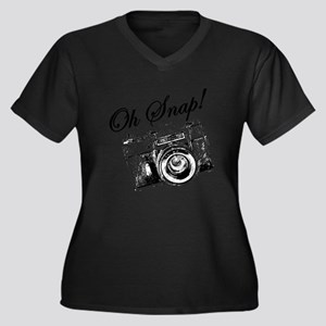 OH SNAP CAMERA Plus Size T-Shirt