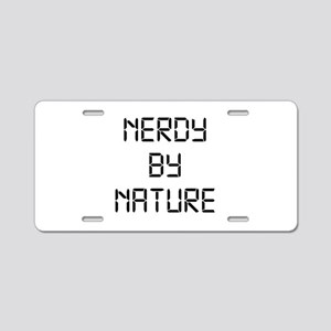 Nerdy By Nature Aluminum License Plate