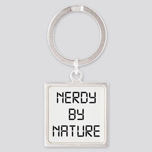 Nerdy By Nature Square Keychain
