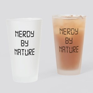 Nerdy By Nature Drinking Glass