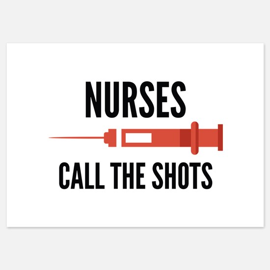 Nurses Call The Shots Invitations