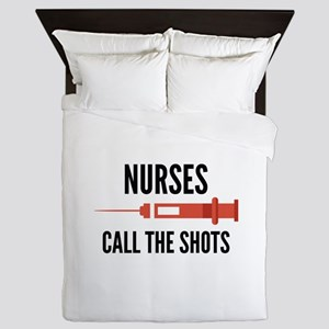 Nurses Call The Shots Queen Duvet