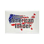 American Infidel Rectangle Magnet (10 pack)