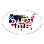 American Infidel Oval Sticker