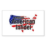 American Infidel Rectangle Sticker