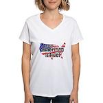 American Infidel Women's V-Neck T-Shirt