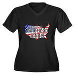 American Infidel Women's Plus Size V-Neck Dark T-S