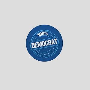 100% Democrat Mini Button