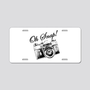 OH SNAP CAMERA Aluminum License Plate
