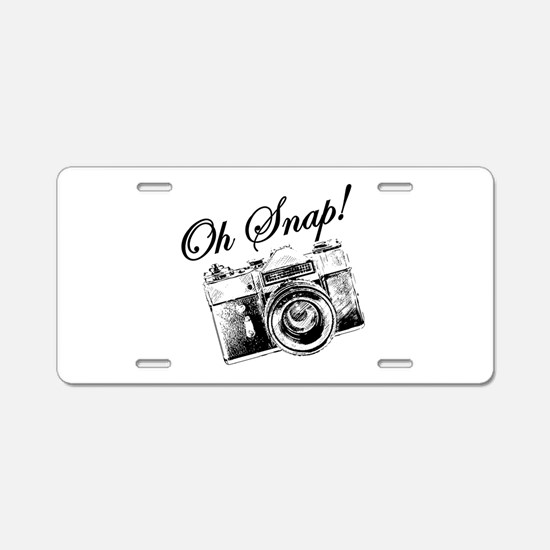 OH SNAP CAMERA Aluminum License Plate